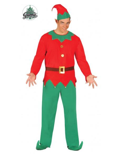 Costume Elfo Folletto Aiutante Di Babbo Natale tg.l