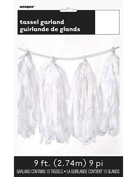 GARLAND TISSUE TASSLE WHITE