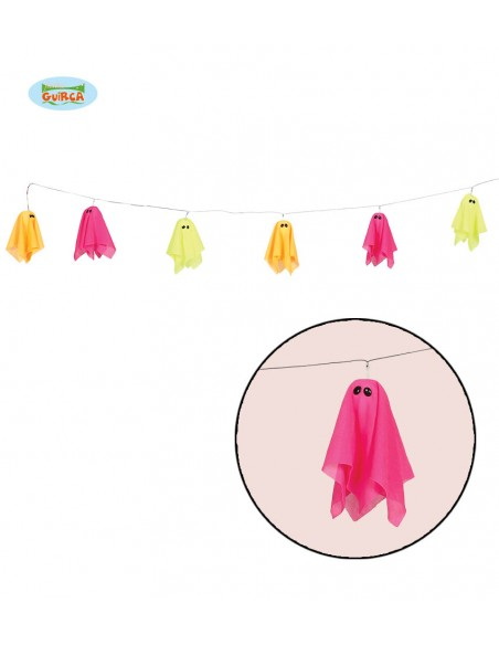 GHIRLANDHA FANTASMA LED COLORI ASSORTITI 180 CM