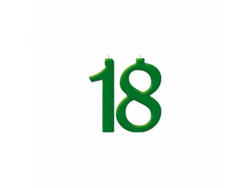 NUMERO MAXI 18 VERDE FORESTA H 18 CM