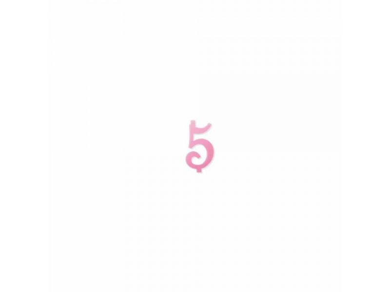NUMERO  5  ROSA H 7 CM