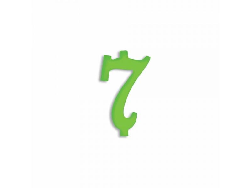 NUMERO  7  VERDE FLUO H 7 CM