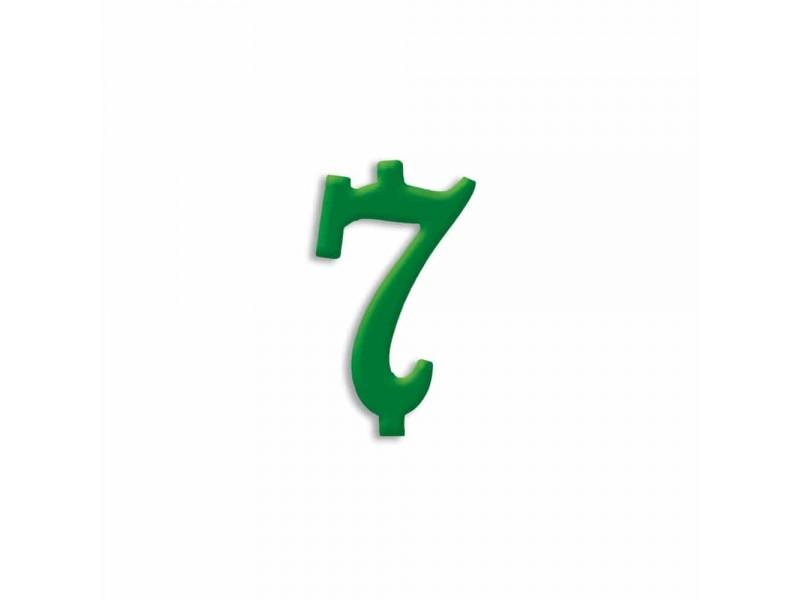 NUMERO  7  VERDE FORESTA H 7 CM