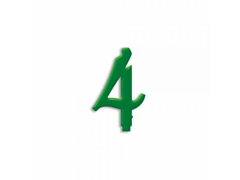 NUMERO  4  VERDE FORESTA H 7 CM