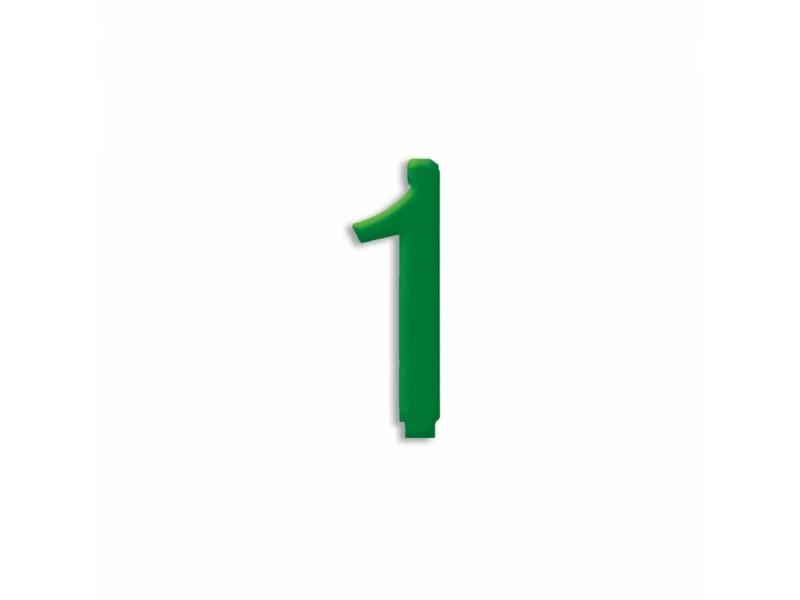 NUMERO  1  VERDE FORESTA H 7 CM