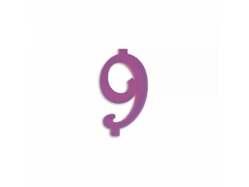 NUMERO  9  LILLA H 7 CM