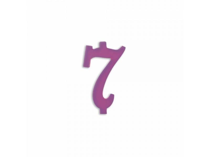 NUMERO  7  LILLA H 7 CM