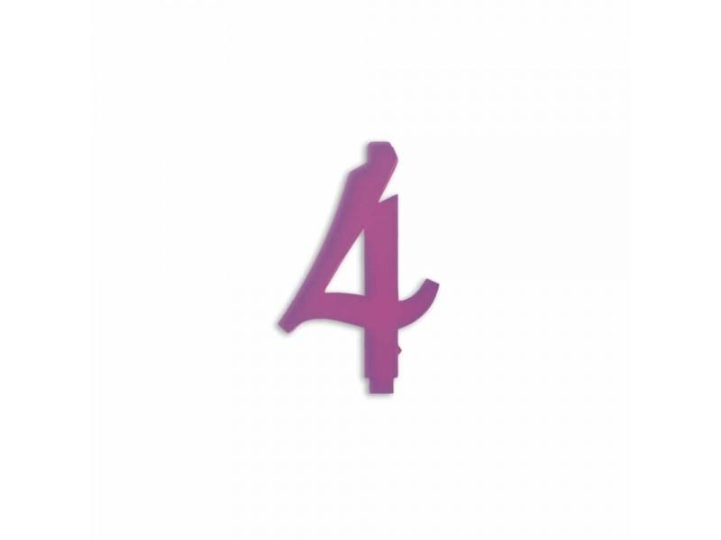 NUMERO  4  LILLA H 7 CM