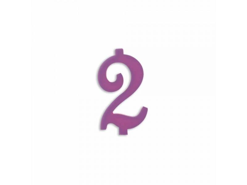 NUMERO  2  LILLA H 7 CM