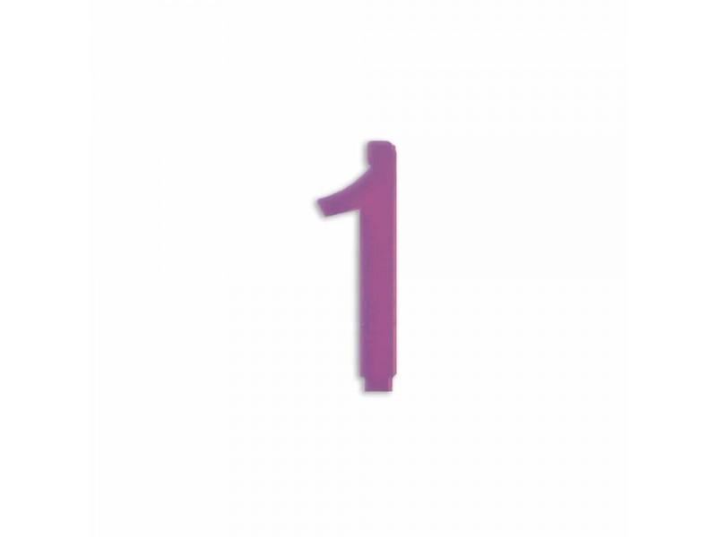 NUMERO  1  LILLA H 7 CM