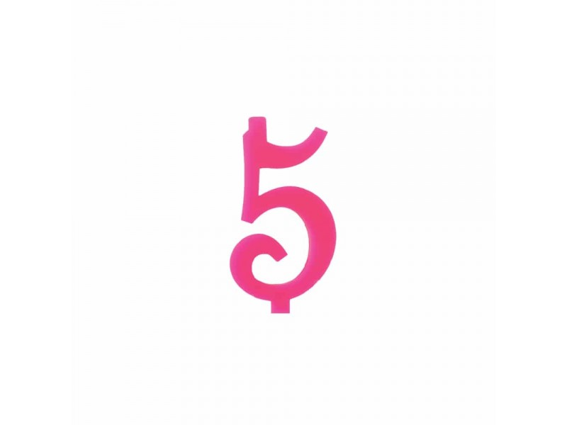 NUMERO  5  FUCSIA H 7 CM