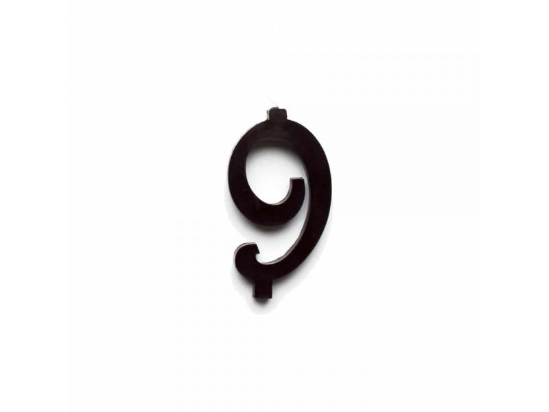 NUMERO  9  NERO H 7 CM