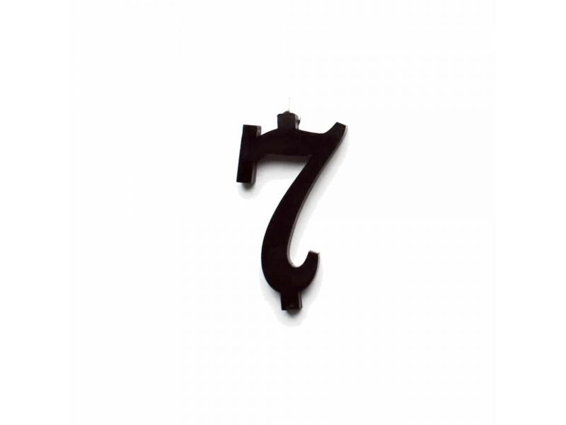 NUMERO  7  NERO H 7 CM
