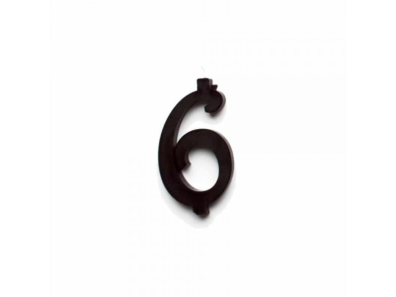 NUMERO  6  NERO H 7 CM