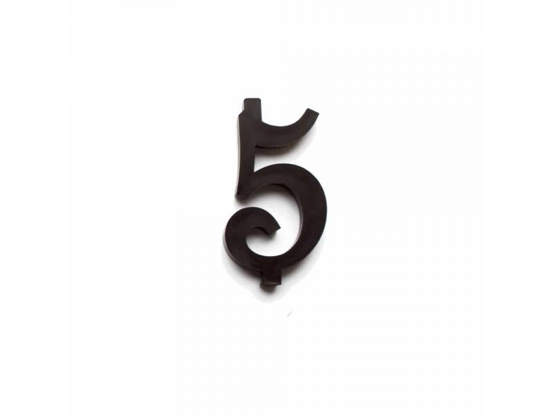 NUMERO  5  NERO H 7 CM