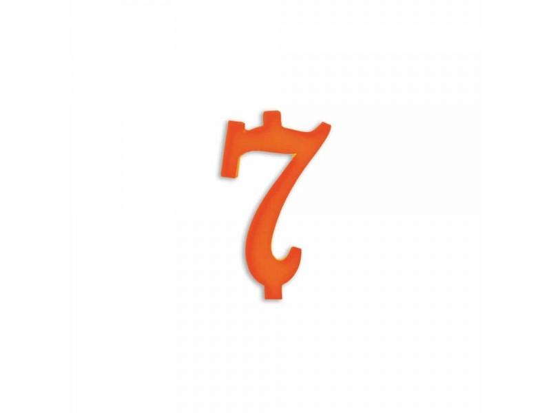 NUMERO  7  ARANCIO H 7 CM
