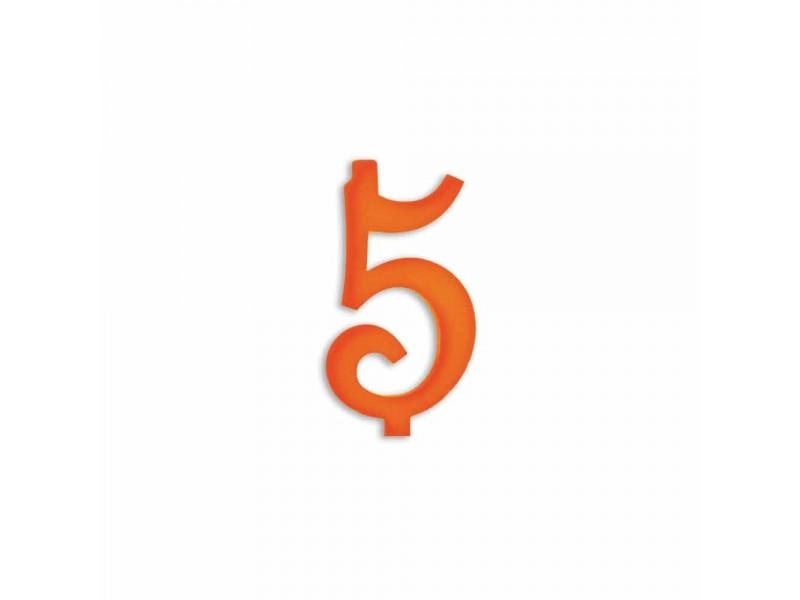 NUMERO  5  ARANCIO H 7 CM
