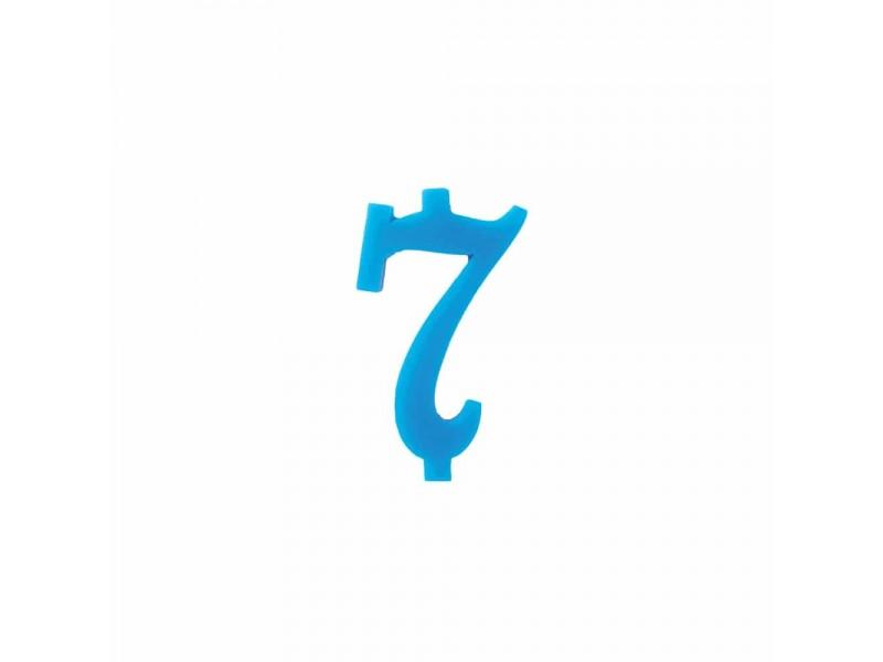 NUMERO  7  CELESTE  H 7 CM