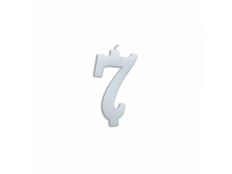 NUMERO  7  BIANCO H 7 CM