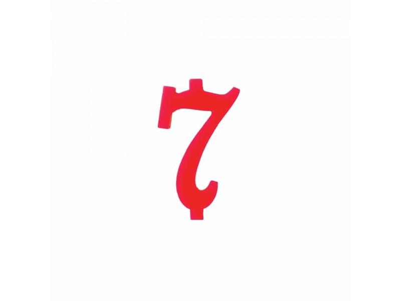 NUMERO  7  ROSSO H 7 CM