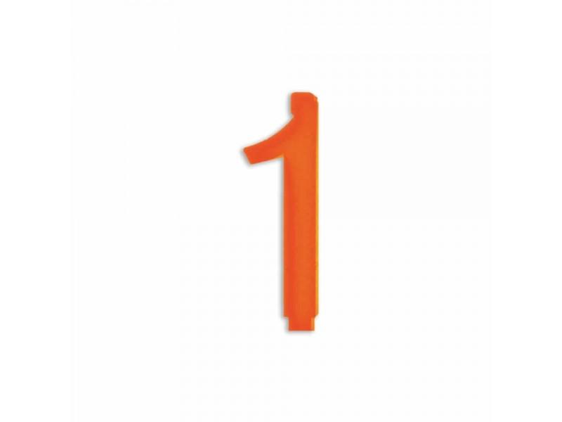 NUMERO  1  ARANCIO H 12 CM