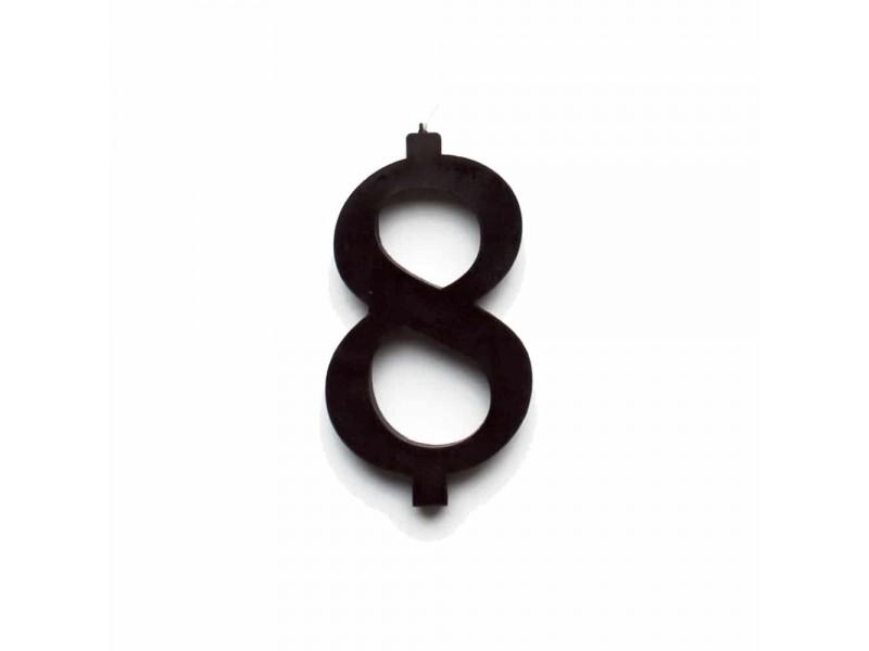 NUMERO  8  NERO H 12 CM
