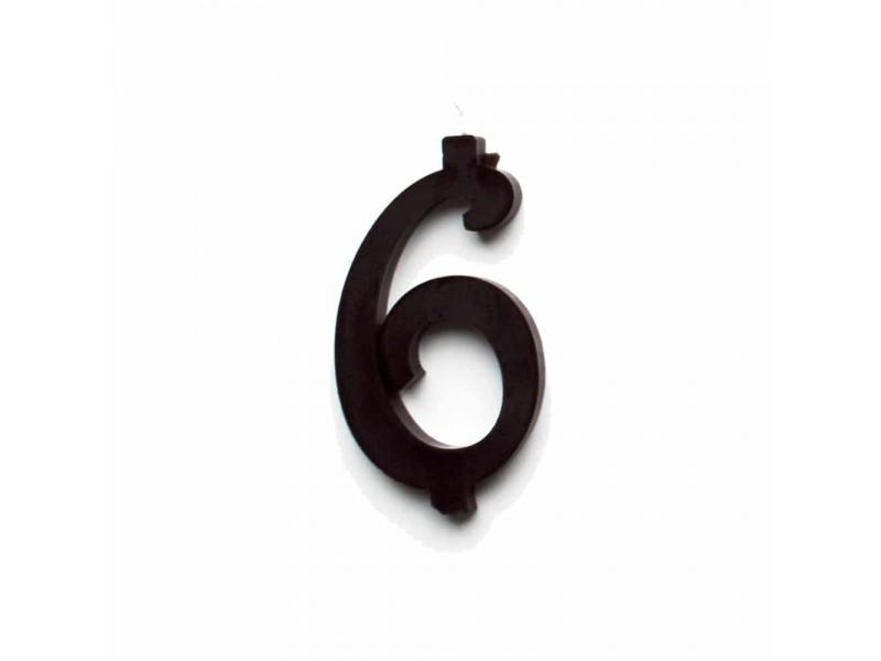 NUMERO  6  NERO H 12 CM
