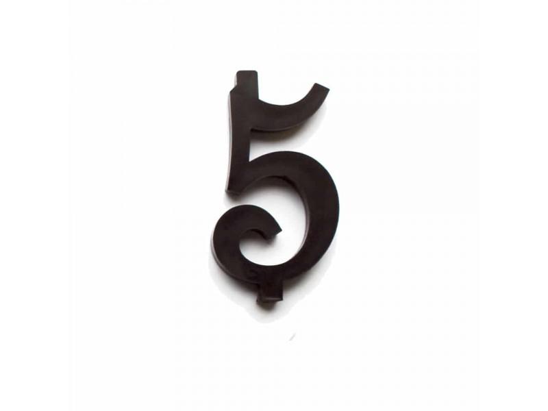 NUMERO  5  NERO H 12 CM