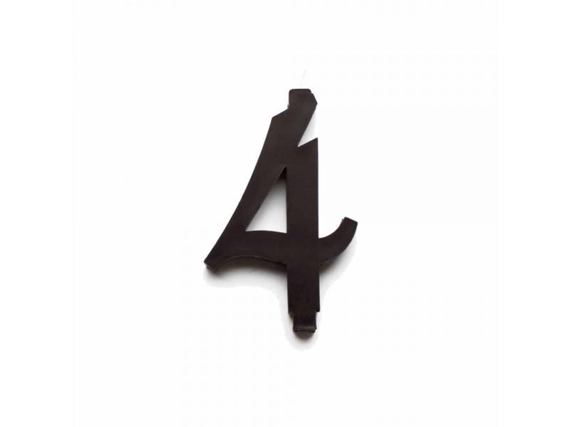 NUMERO  4  NERO H 12 CM