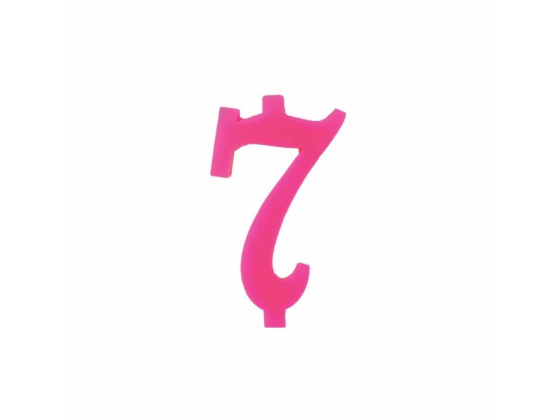 NUMERO  7  FUCSIA H 12 CM