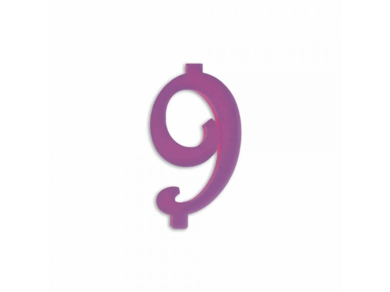 NUMERO  9  LILLA H 12 CM