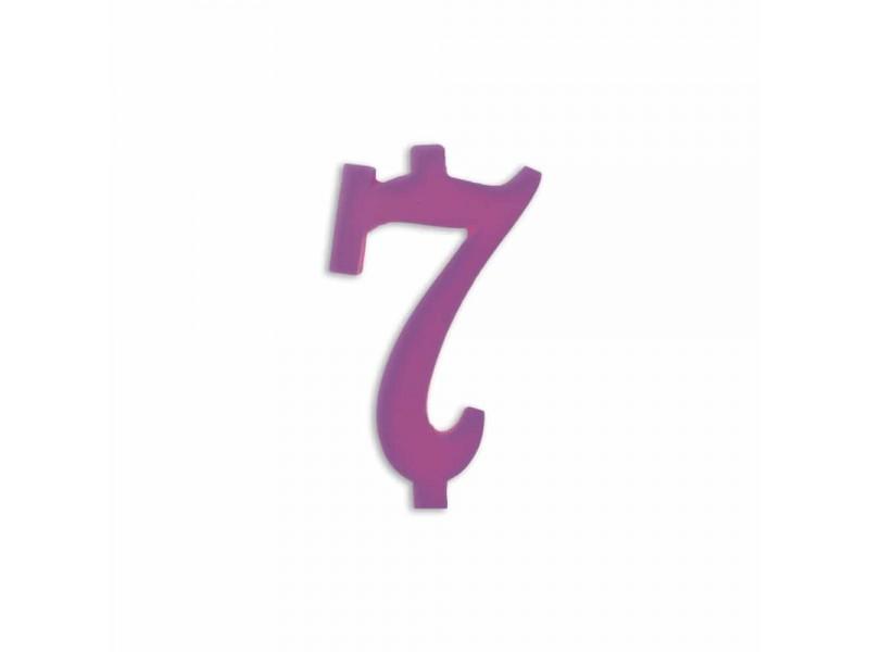 NUMERO  7  LILLA H 12 CM
