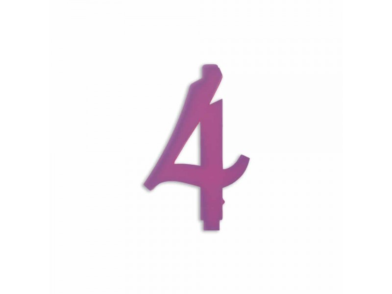 NUMERO  4  LILLA H 12 CM