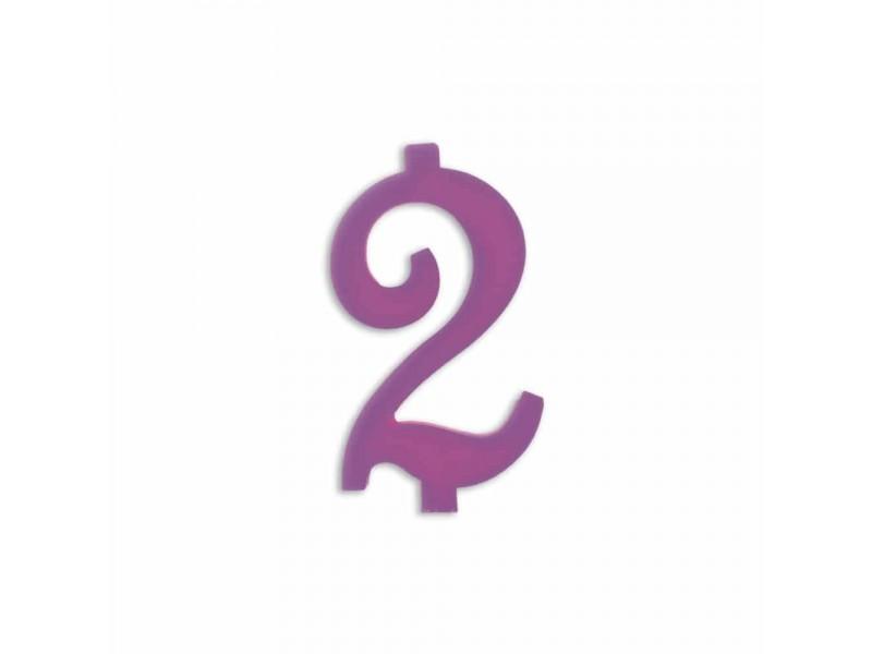 NUMERO  2  LILLA H 12 CM