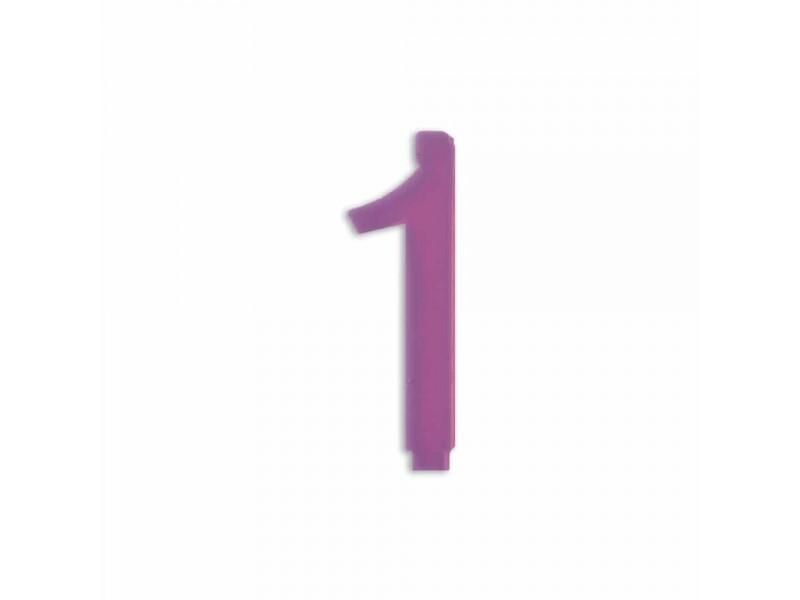 NUMERO  1  LILLA H 12 CM