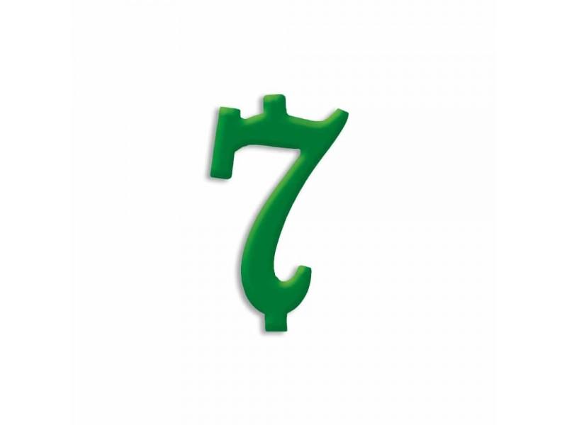 NUMERO  7  VERDE FORESTA H 12 CM