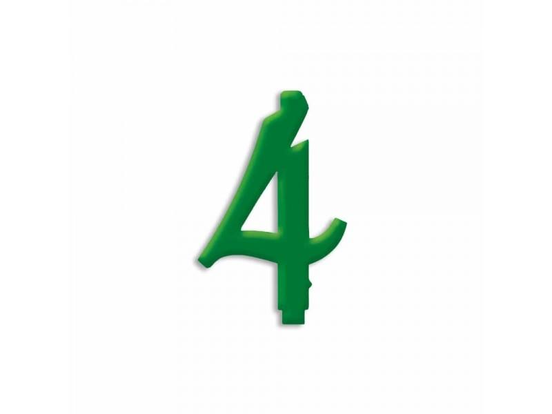 NUMERO  4  VERDE FORESTA H 12 CM