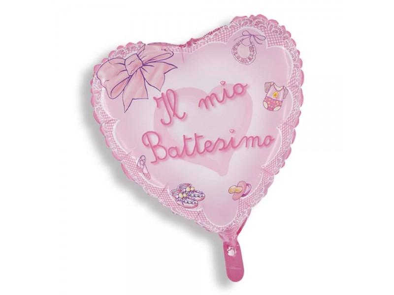 MYLAR BIG CM.80 BATTESIMO ROSA