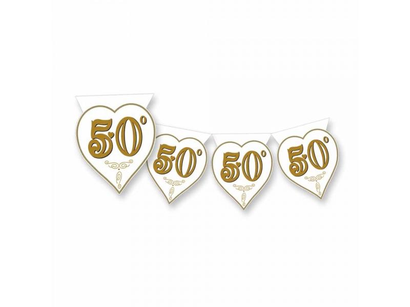 BANDIERINA 50 ANNIV. CUORE MT 3.60