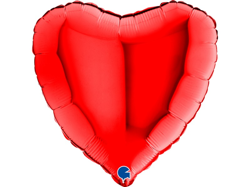"""PALLONE CUORE MYLAR 18"""" RED"""