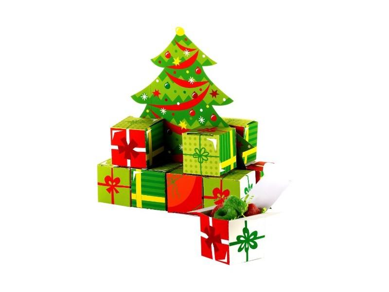 Centerpiece albero con 12 scatoline