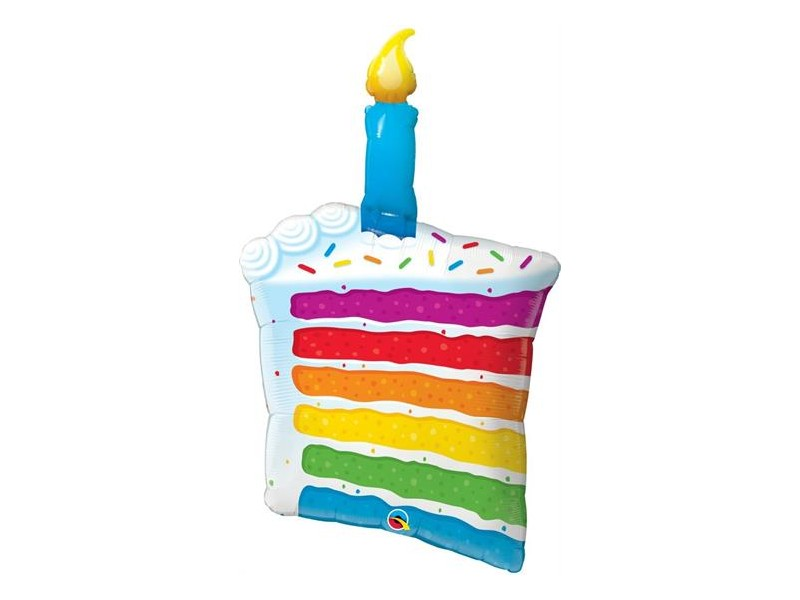 """S/SHAPE RAINBOW CAKE & CANDLE 42"""""""