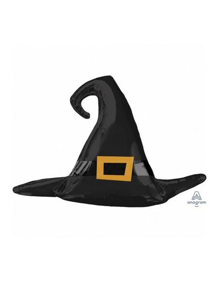 S/SHAPE SATIN BLACK WITC HAT 99X68CM