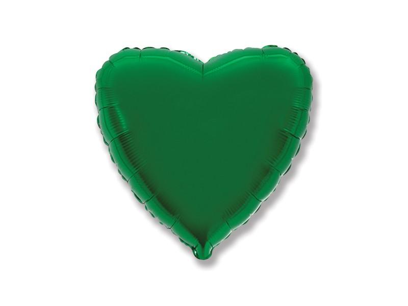"""PALLONE MYLAR HEART 18"""" VERDE 45CM"""