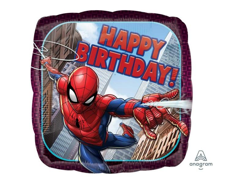 "PALLONE 18"" CM. 45 SPIDERMAN HAPPY BDAY"