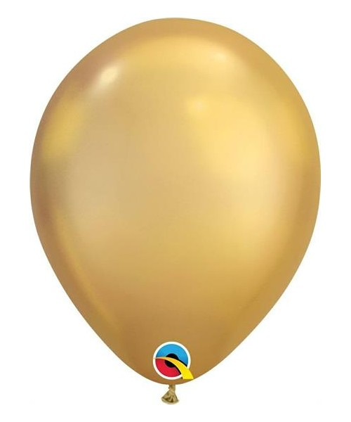 7RND PALLONE LATTICE CHROME GOLD 100PZ