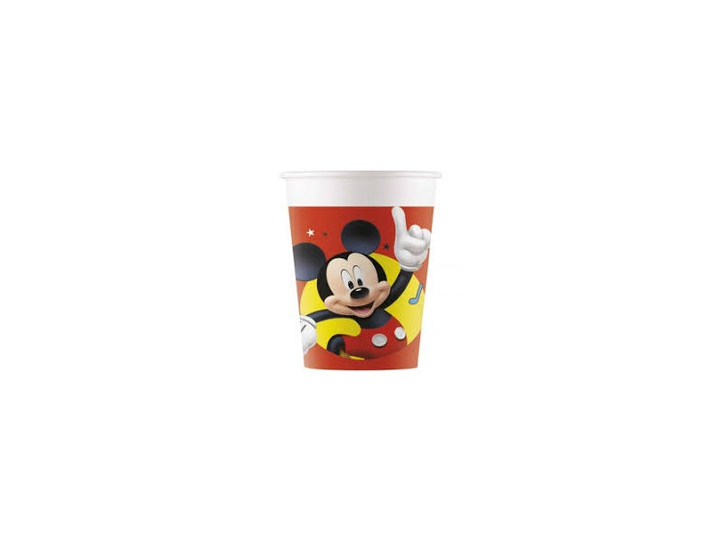 BICCHIERE PLAST. 8PZ MICKEY PALS AT PLAY