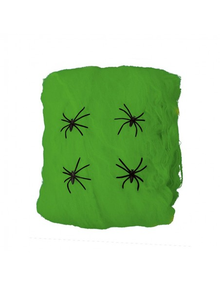 Ragnatela Verde con Ragni gr.60