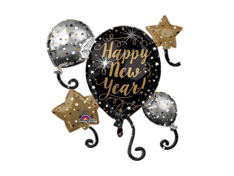 PALLONE MYLAR HAPPY NEW YEAR CM 73X76