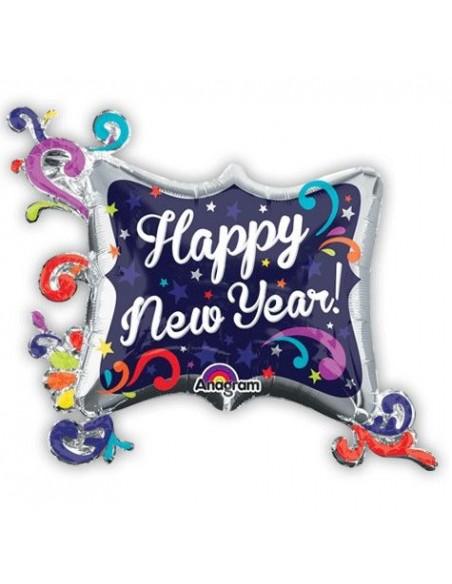 PALLONE MYLAR CORNICE HAPPY NEW YEAR CM. 86X73